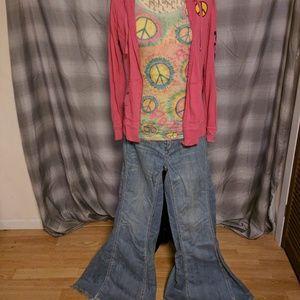 "Ladies Hippie ""Let Love Rock"" costume"